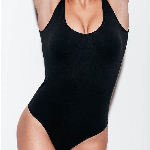 woman in black swimwear