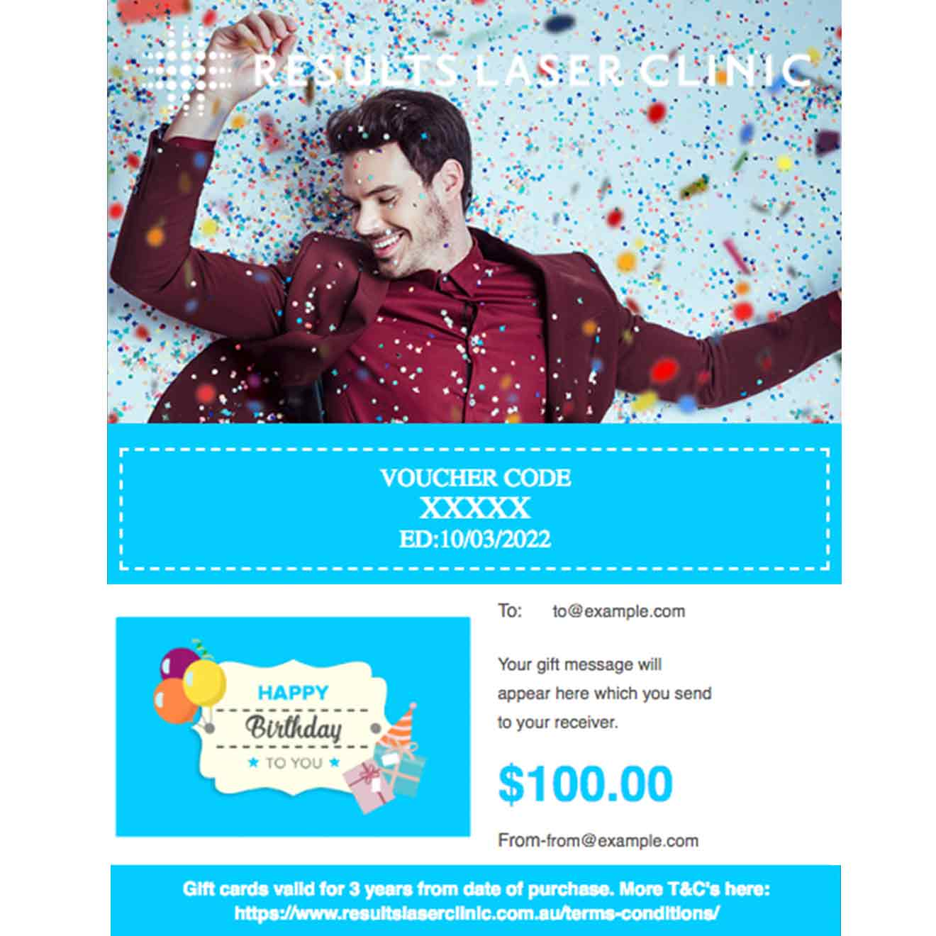 Birthday Gift Cards For Him Card Design Template