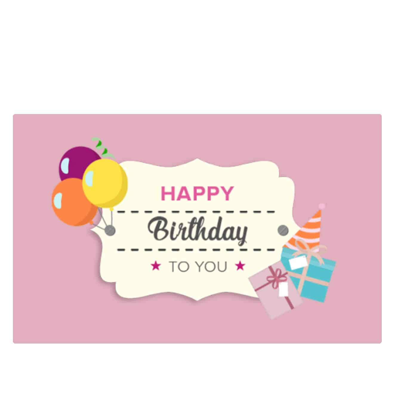 Birthday E Gift Card For Her