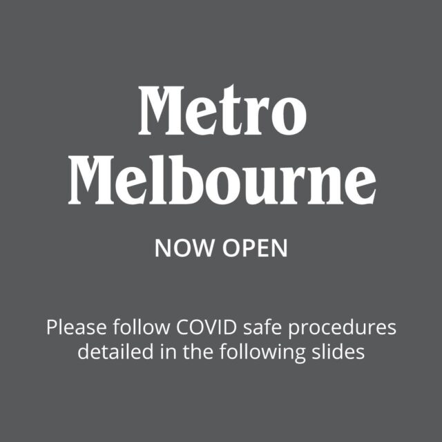 Great news! Our Melbourne clinics are now open ! 💚 🎉  From our entire team, we can not wait to see you in clinic ! Your safety and hygiene is our highest priority - swipe across to see the COVID safe procedures we require you to follow so we can continue to treat you all safely.
