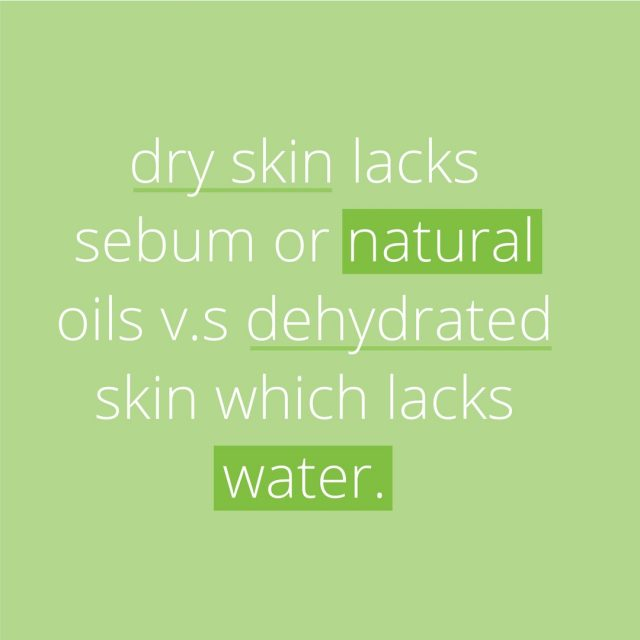 How can you tell if your skin is dry or dehydrated?   A simple pinch test: Pinch your cheeks for a few seconds and let go.   If your skin bounces back to normal (yet feels flaky), you have dry skin. If it takes a few seconds, even leaving some fine lines, your skin is probably dehydrated.