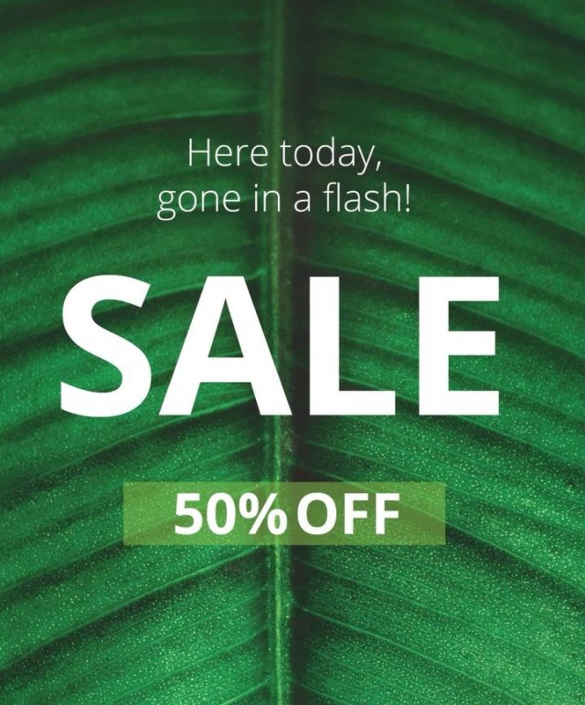 Here today, gone in a flash!   Stock up on your your favourite skin + laser treatments at 50% off. Hurry.. this frenzy won't last long.  Save time, shop online - link in bio