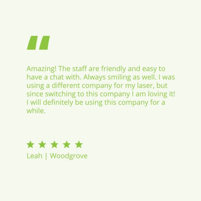 Client Love 💚  thank you Leah for your kind words.  Our team in clinic are passionate about creating a tailored plan to help you reach your skin goals.   To start your journey with us today, link in bio